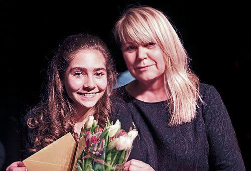 Maria Pedano en Frances Gramende (Organisatrice du Concours et Membre du Jury)
