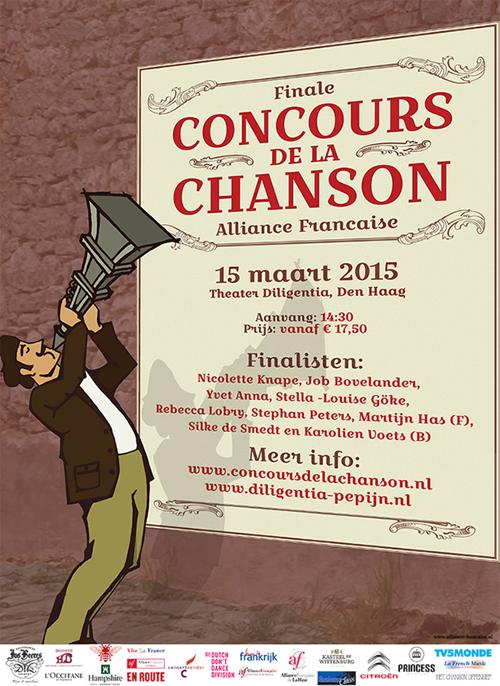 poster Concours de la Chanson Alliance Française